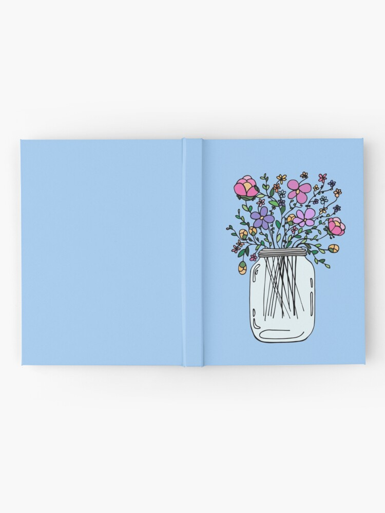 Alternate view of Mason Jar with Flowers Hardcover Journal