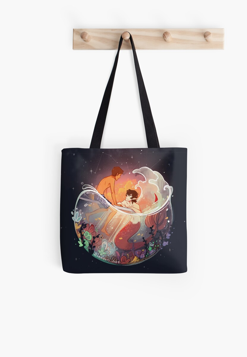 Flowers and Stars Tote Bag