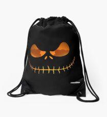 Soundclout Soundcloud Logo in Halloween Jack'o'lantern Eyes Unique Design Drawstring Bag