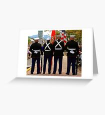 4 Marines Greeting Card