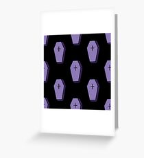coffin Greeting Card