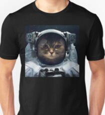 witty Cat astronaut  face Space Galaxy    Unisex T-Shirt