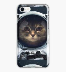 witty Cat astronaut  face Space Galaxy    iPhone Case/Skin