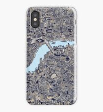 London Map Drawing color iPhone Case/Skin