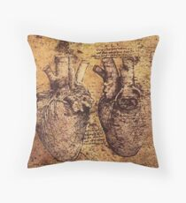 HEART, Leonardo da Vinci, Heart And Its Blood Vessels Floor Pillow