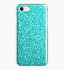 Tiffany Aqua Blue Glitter iPhone Case/Skin
