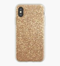 Copper Rose Gold Metallic Glitter iPhone Case