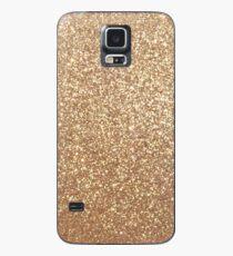 Kupfer Rose Gold Metallic Glitter Hülle & Skin für Samsung Galaxy
