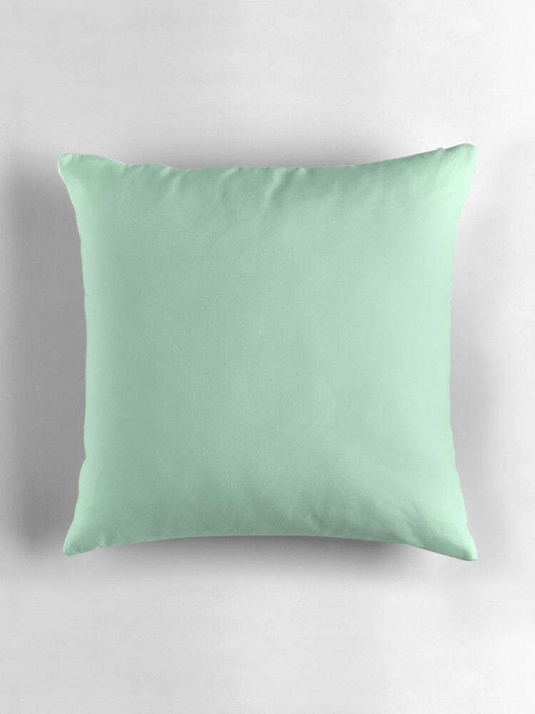Quot Pale Green Summermint Pastel Green Mint Quot Throw Pillows By