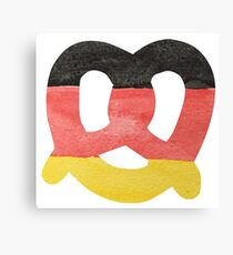 Pretzel in Hand-Painted Water Colors of German Flag Canvas Print