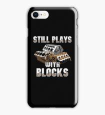 Still plays with blocks iPhone Case/Skin