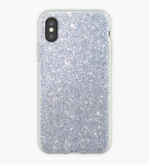 Silber Metallic Sparkly Glitter iPhone-Hülle & Cover