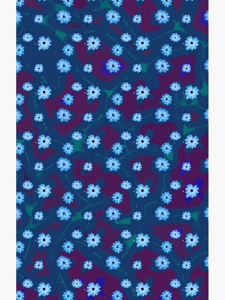 Blue Floral Pattern by melasdesign