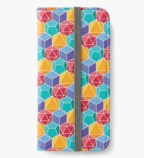 Dungeons and Dragons Dice Pattern Colorful iPhone Wallet