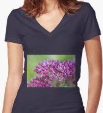 flower in the garden Women's Fitted V-Neck T-Shirt