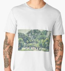 Beverly Hills Sign - Vintage Men's Premium T-Shirt