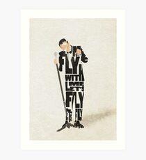Typographic and Minimalist Frank Sinatra Illustration Art Print