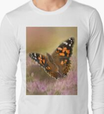 Painted Lady on Sedum Photography/Art T-Shirt