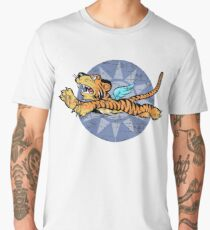 FLYING TIGERS INSIGNIA - (Weathered Version) - WORLD WAR II - AMERICAN VOLUNTEER GROUP Men's Premium T-Shirt