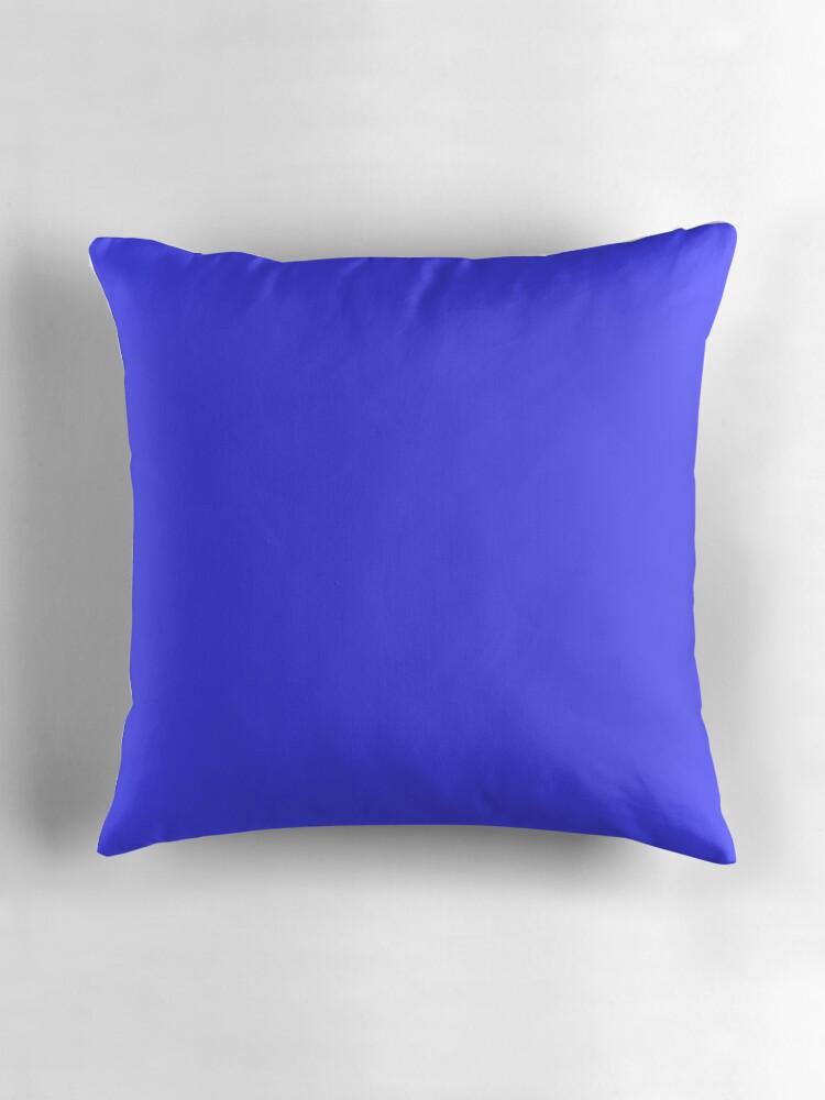 Neon Blue Throw Pillows :