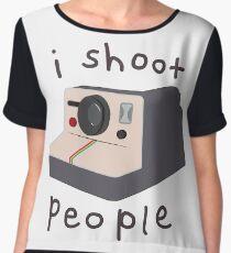 I (Don't Really) Shoot People Women's Chiffon Top