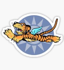 Flying Tigers Insignia - (Non-Weathered Version) - World War II - American Volunteer Group Sticker