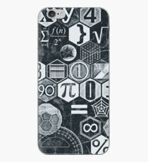 Math's Lesson (Black and White) iPhone Case