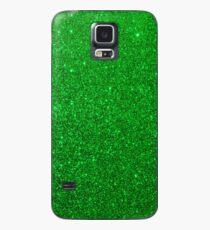 Emerald Green Shiny Metallic Glitter Hülle & Klebefolie für Samsung Galaxy