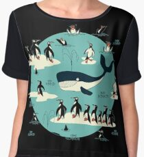 Whales, Penguins and other friends Women's Chiffon Top