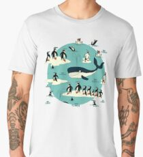 Whales, Penguins and other friends Men's Premium T-Shirt