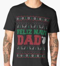 Feliz Navi Dad Ugly Christmas Sweater Design Men's Premium T-Shirt