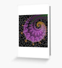 Chameleon Spiral Greeting Card