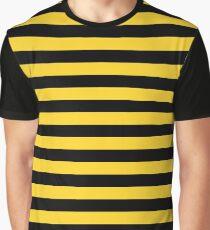 Gelbe und schwarze Honey Bee Stripes Grafik T-Shirt