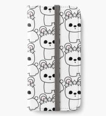Cute Pet Bunny Rabbit Blanc de Hotot with Star Crown iPhone Wallet/Case/Skin