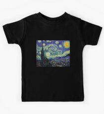 Starry Night by Vincent Van Gogh Kids T-Shirt