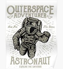 Outerspace Astronaut Poster