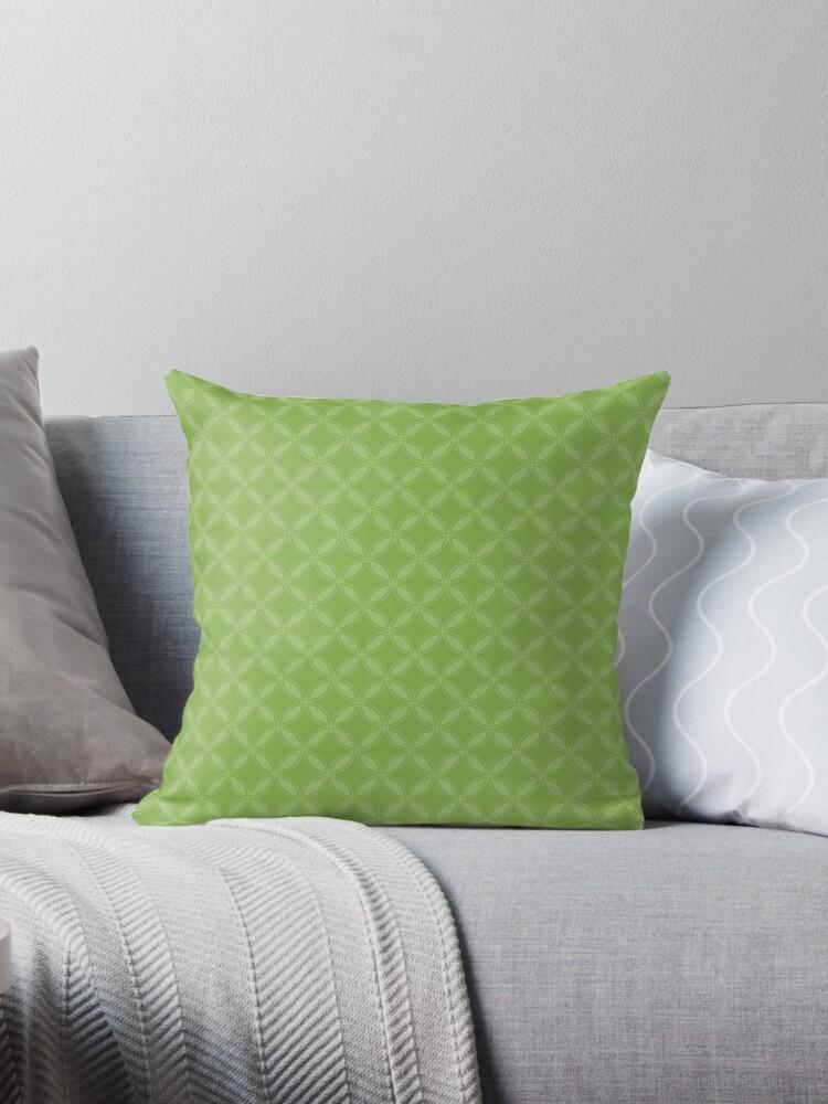 Greenery Green Geometric Circle Pattern by podartist
