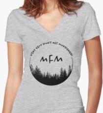 My Favorite Murder Women's Fitted V-Neck T-Shirt