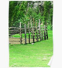 Holding Pen in a Pasture Poster
