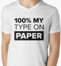 100% My Type On Paper - Black T-Shirt