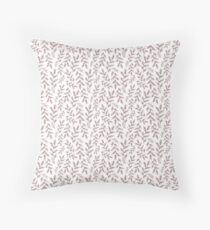 Elegant Branches In Red Throw Pillow