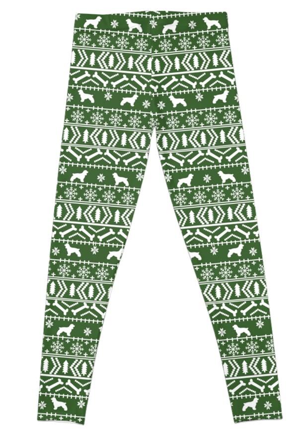 Cocker Spaniel fair isle christmas pattern dog breed holiday gifts ...