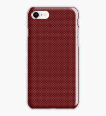 Red & Black Carbon Fiber Simulated Material iPhone Case/Skin