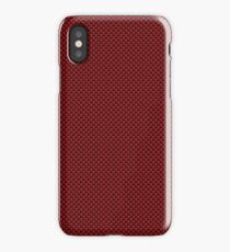 Red & Black Carbon Fiber Simulated Material iPhone Case/Skin