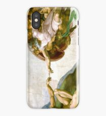 The Creation of Adam Painting by Michelangelo Sistine Chapel iPhone Case/Skin