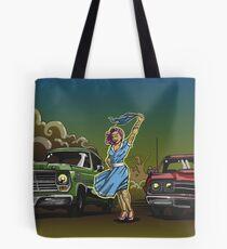The Gasoline Queen or Race at Twilight grosvenordesign grosvenor John  Tote Bag