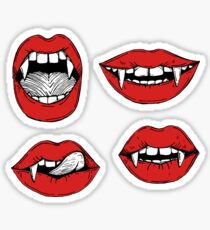 Vampire red lips stickers Sticker