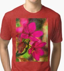 Abstract Floral 11 Tri-blend T-Shirt