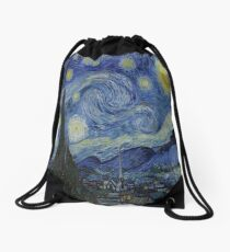 Starry Night by Vincent Van Gogh Drawstring Bag