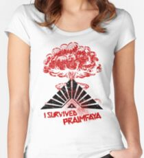 The 100 - I Survived Praimfaya Women's Fitted Scoop T-Shirt